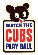 Chicago Cubs   MLB Baseball   Vintage -Looking Travel Decal Sticker