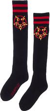78560 Hail Pizza Pentagram Satan Black Red Socks Knee High Roller Derby Sourpuss