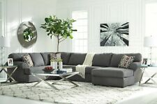 Fremont Grey U-Shape Modular Fabric Lounge Suite with Chaise