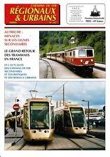 CHEMINS de FER RÉGIONAUX et URBAINS - N° 282 (2000 - 6) (FACS - CFRU) (Train)