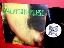THE AMERICAN RUSE Break it down  LP 1992 ITALY MINT garage psych