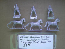 25mm Mini Figs American Civil War Mtd Confederate Cavalry ( 3 Figs )