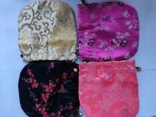 5pc Chinese Handmade Classic Silk Jewellery Pouch/Coin Purse Gift Bag M9