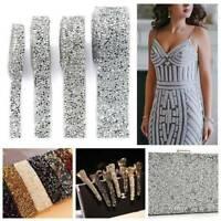 Bling Crystal Rhinestone Ribbon Resin Sewing Trim Wedding Dress Costume Decor ~