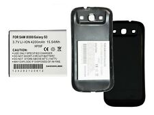 Galaxy S3/SCH-I535/SCH-R530/SGH-i747/SGH-T999/i9300, 4200 MAH w/ Black EXT Cover