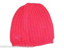 BNWT - ROXY Ladies Ribbed Knit Beanie Hat - Sparkling Azalea Pink