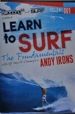 Learn to Surf With Andy Irons DVD The Fundamentals Surfing Video Movie Sports