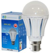 10 Watt LED Light Bulb GLS 800 Lumens B22 Bayonet Cap Beautiful Cool White