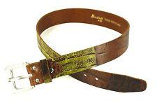 G1-55 Damen Taillengürtel Gürtel dickes Leder braun Krokolook BriCCino 75-80 cm