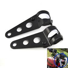Motorcycle Headlight Mount Bracket For Racer Cafe Chopper 35-43mm Fork Tubes #K