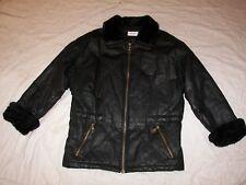 Vintage Charles Klein Black Leather Coat - See Measurements