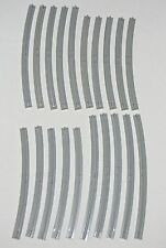 LEGO LOT OF 20 GREY TRACK RAILS 10 INSIDE AND 10 OUTSIDE PIECES