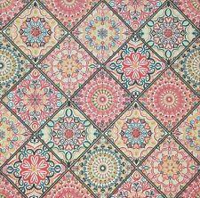 Bulk-0,85 $ /pc! 3 x Single Paper Napkins For Decoupage Pink Spanish Tiles M177