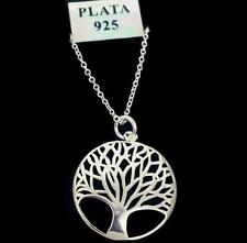 925 Sterling Silver Tree of Life Pendant Necklace UK