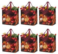 Earthwise Reusable Grocery Shopping Bags Durable Water Resistant (Pack of 6)