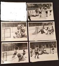1970/80'S - NHL - ORIGINAL MEDIA / PRESS - HOCKEY PLAYERS - ACTION PHOTOS - (5)