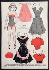 1950, GLORIA Mag. Paper Dolls, Wee Wisdom Mag., Dorothy Wagstaff Artist