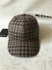 Kiton Napoli Luxury Cap Gray Cashmere Size 58 L  Made in Italy