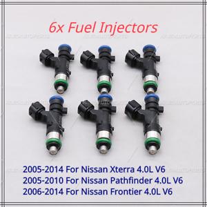 6 Pcs Fuel Injectors For 2005-2010 Nissan Pathfinder Xterra 4.0L V6 #0280158007