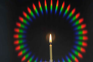 46mm Diffraction/Arc-en-Ciel D36 Acrylique Filtre En Rotatif Anneau