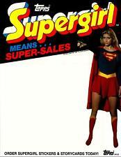 Super Girl Trading Cards Dealer Sell Sheet Sale Ad Topps 1984 Helen Slater