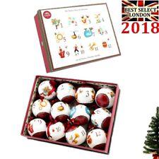 12 giorni di Natale Set di 12 palline per albero di Natale ornamento LP92973 Natale