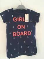 T-shirt Fille TIFFOSI Paprika motif Girls on Board 100% coton Bleu
