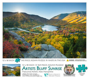 Jigsaw Puzzle - New Hampshire - Artist's Bluff Sunrise - 345 Pieces - 12x18