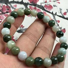 beads elastic bracelet Aaaaa+. New natural jade Jadeite 7mm