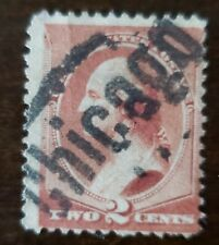USA STAMP 1883 #210 2 cents , fancy cancell  LARGE CHICAGO