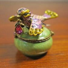 NWT Jay Strongwater Bird with Jewel Hinged Crystal Studded Trinket Box NCCTop