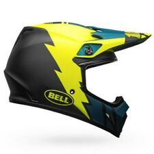 Bell MX-9 MIPS Strike Matte Blue/Yellow Large Motocross Helmet