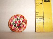 HANDMADE FOR BARBIE MONSTER HIGH DOLLS PERSONAL PAN SUPREME PIZZA FOOD 1/6