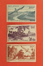 3 FRENCH POLYNESIA 1948 AIRMAIL STAMPS # C17-19 MNH CV$106