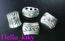 50Pcs  Tibetan silver 3 holes bail style spacer beads A29