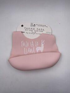 Bella Tunno Tots Silicone Bib Adjustable Llama Pink Baby Girl