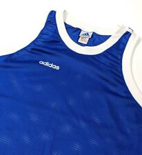 Vintage Adidas Mens Basketball Vest Sleeveless Jersey Top Stretch Vented Sz XXL