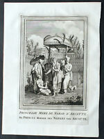 1755 Prevost & Schley Antique Print of Princess of the Bourbons of Bophal, India
