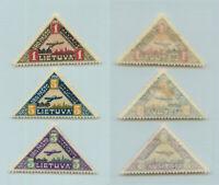 Lithuania 1922 SC C15-C17 mint . rtb3038