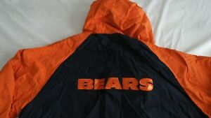 Chicago BEARS Reebok Reversible Hooded Fleece Jacket Adult XX-LARGE NFL FULL ZIP