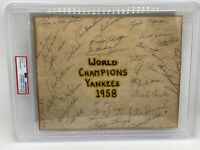 (32) 1958 NY Yankees autograph Team Signed Baseball Mickey Mantle Yogi PSA/DNA
