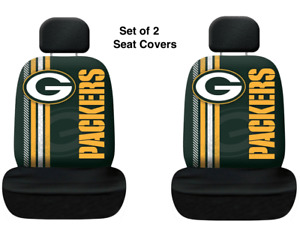 Green Bay Packers NFL Printed Logo 2 Car Seat Covers