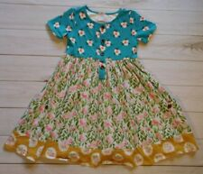 SweetHoney Sweet Honey Girls Dress / Size 10y / Teal Pink Floral