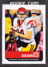 """2- SAM DARNOLD 2017 SI """"1 OF 9"""" 1ST EVER PRINTED COLLEGE ROOKIE CARD USC TROJANS"""