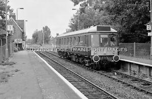 35mm Railway Negative: DMU/Railcar 55023 L123 at Lidlington 08/10/1994  30/332a1