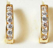 Damen Ohrringe Ohrstecker 14 Karat 585 Gold 2,59 g Gelbgold Zirkone