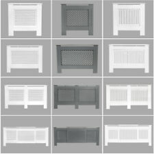 Radiator Cover White Grey Modern Traditional Wood Grill Shelf Cabinet Furniture