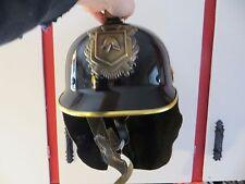 original vintage 1950's Netherlands dept fire fighter rescue helmet metal badge