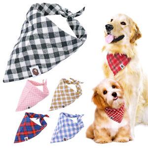 5pcs Cotton Pet Dog Bandana Neckerchief Collar Puppy Kitten Cat Dog Collar Scarf