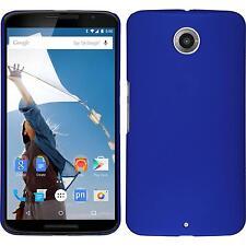 Hardcase for Google Nexus 6 rubberized light blue Cover + protective foils